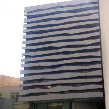 نمای شیشه اش کرتین وال پروژه ساختمان تجاری اداری - وزرا vozara