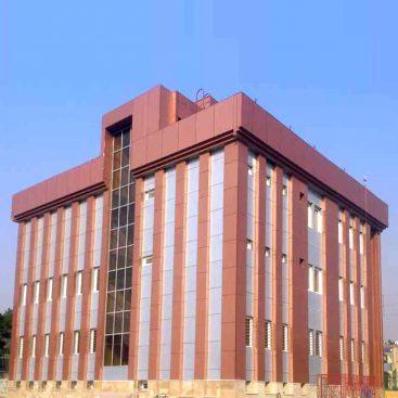 پروژه شهرداری منطقه 21 نمای شیشه ای کرتین وال، درب و پنجره آلومینیومی نرمال، ورق آلومینیومی کامپوزیت