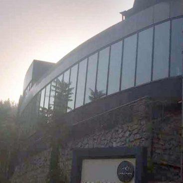 کلوپ سلامت 1 پروژه راسپینا1 - نیاوران نمای شیشه ای کرتین وال niavaranday
