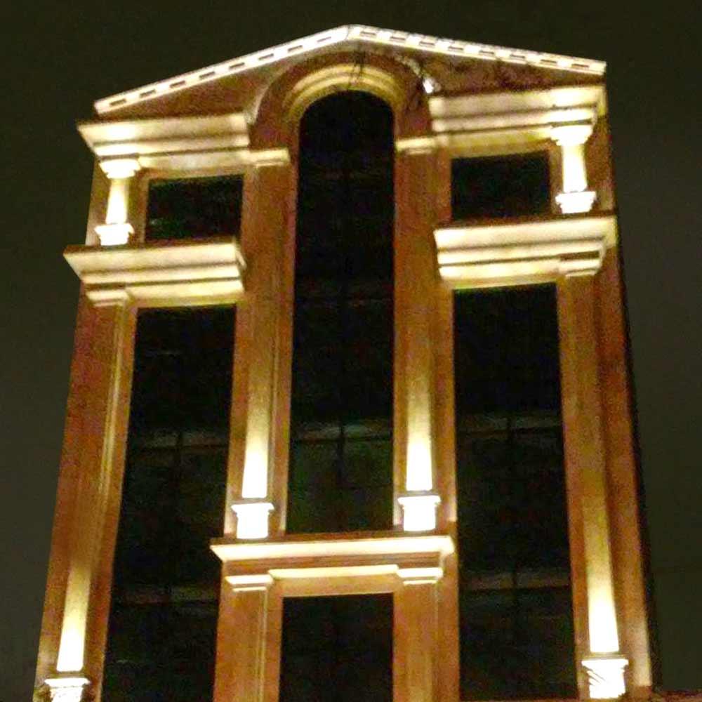 ساختمان پرشکان - قزوین ghazvin2 نمای شیشه ای فریم لی ، یوچنلی