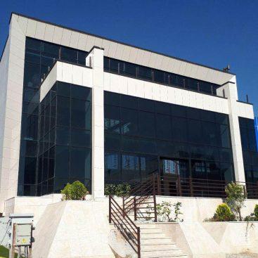 پروژه پارک فن آوری پردیس شرکت هوشمند سازان پردیس نمای شیشه ای کرتین وال سرامیک پرسلانی